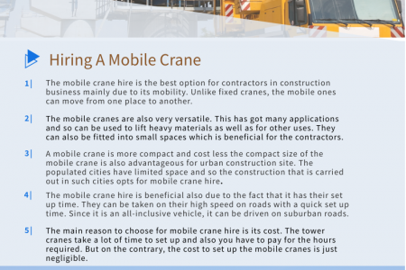 Construction Companies Hire Mobile Cranes for Their Project Infographic