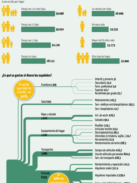 Consumption during the Spanish economical crisis Infographic