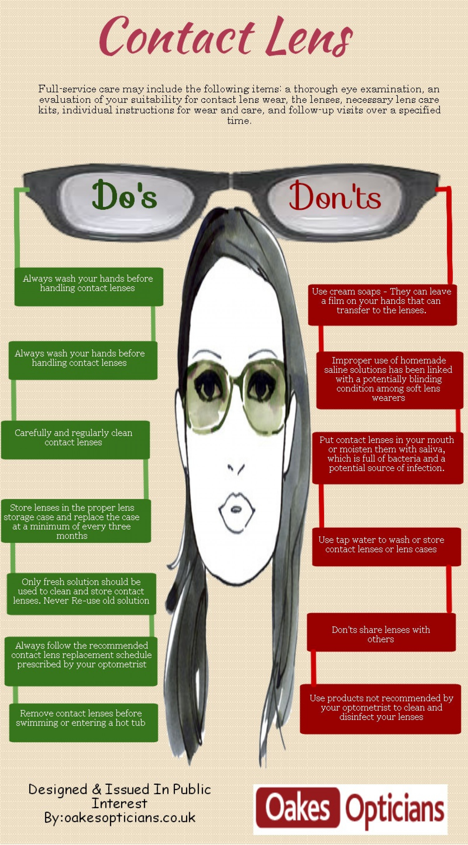 Contact Lens Do's and Don'ts Infographic