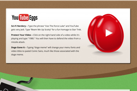 Cool Internet Easter Eggs Infographic