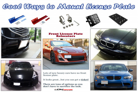Cool Ways to Mount License Plate Infographic
