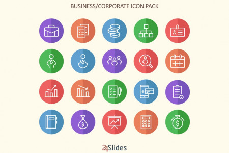 Corporate Colour Icon Pack | Free Download Infographic