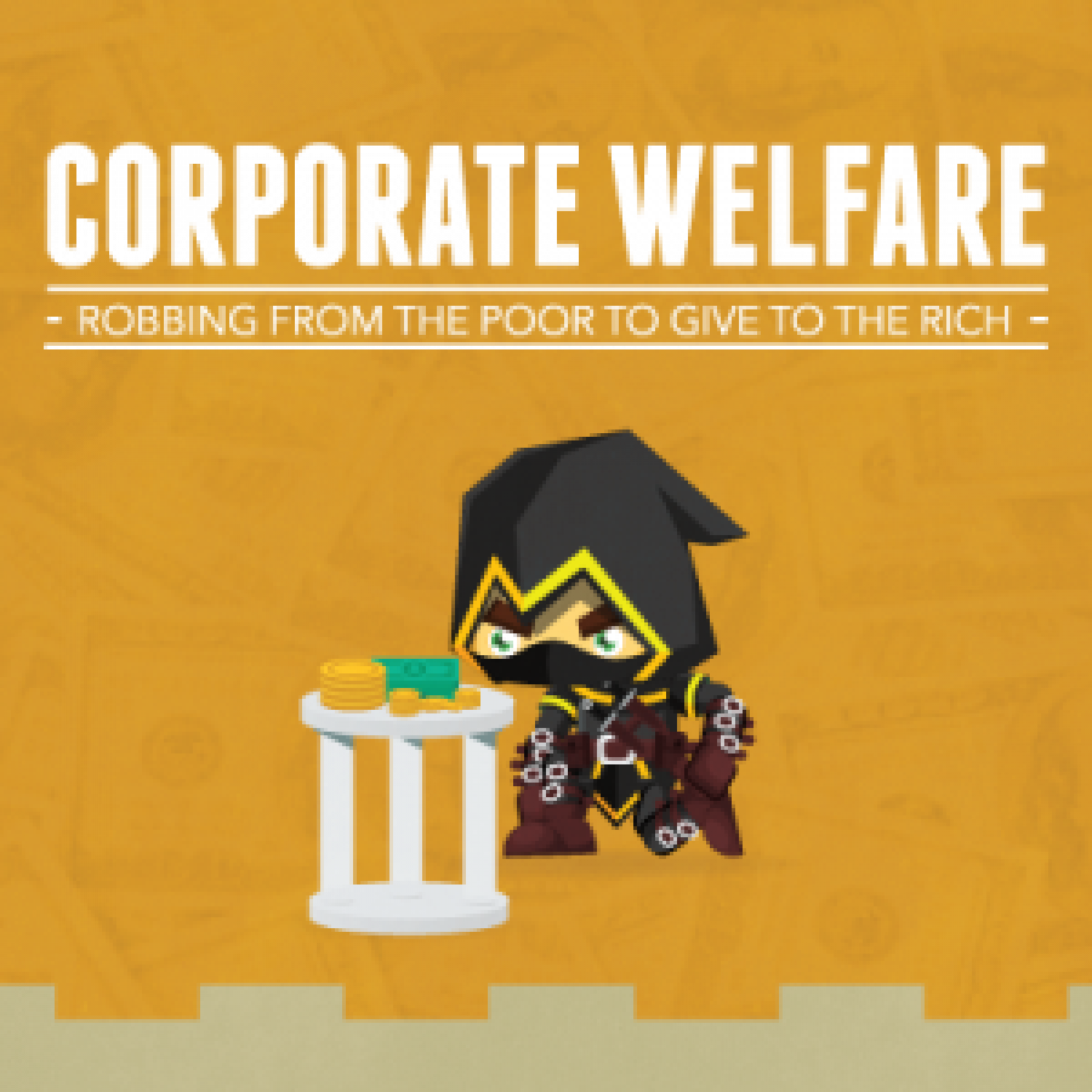 Corporate Welfare vs Actual Welfare Infographic