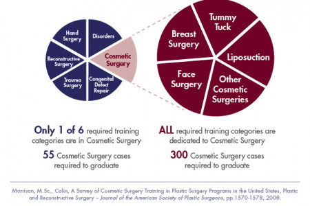 Cosmetic Surgery vs. Plastic Surgery Infographic