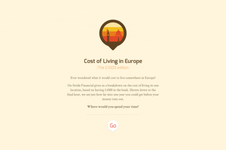 Cost of Living in Europe Infographic