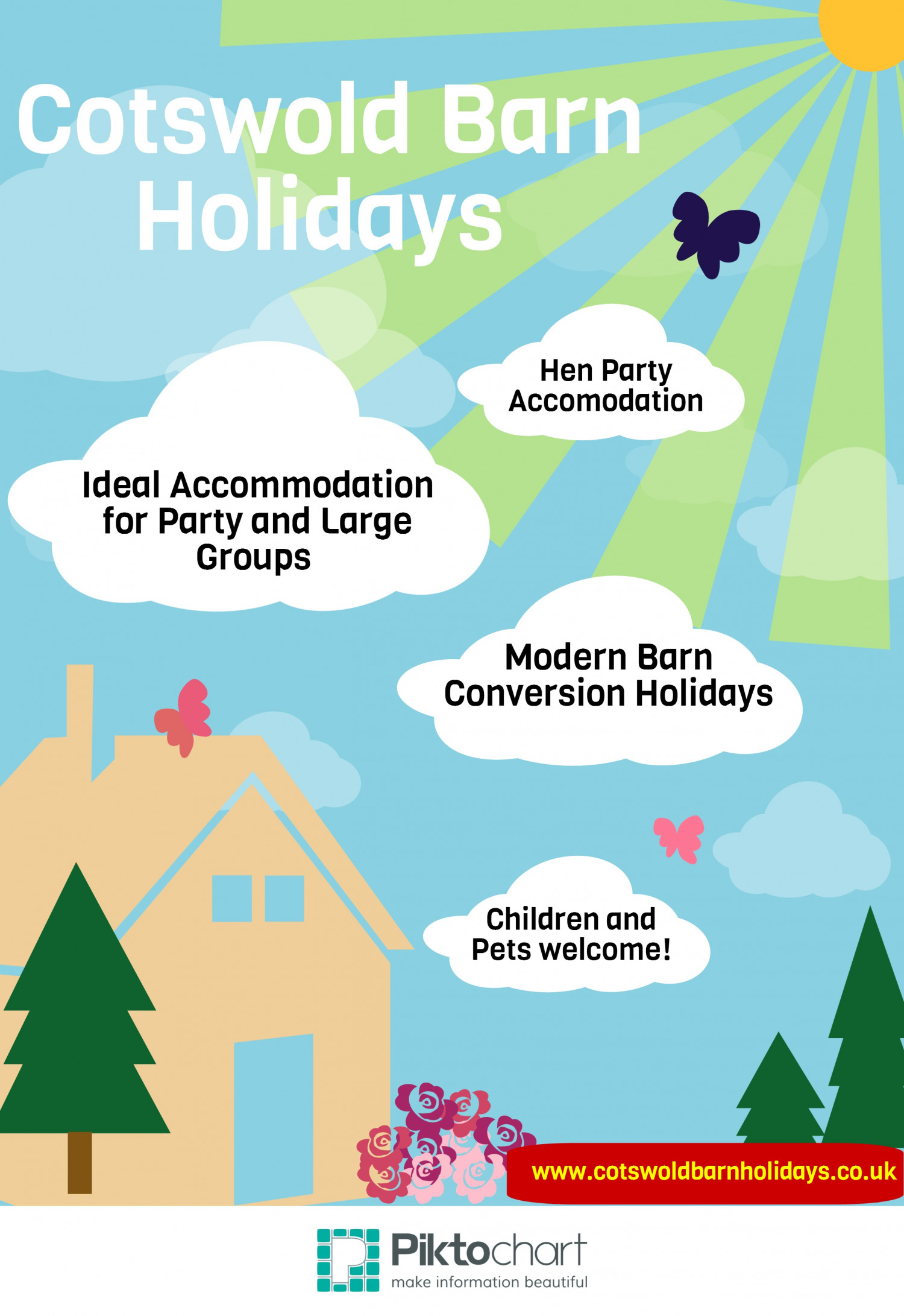 Cotswold Barn Holidays - Group Accomodation Infographic