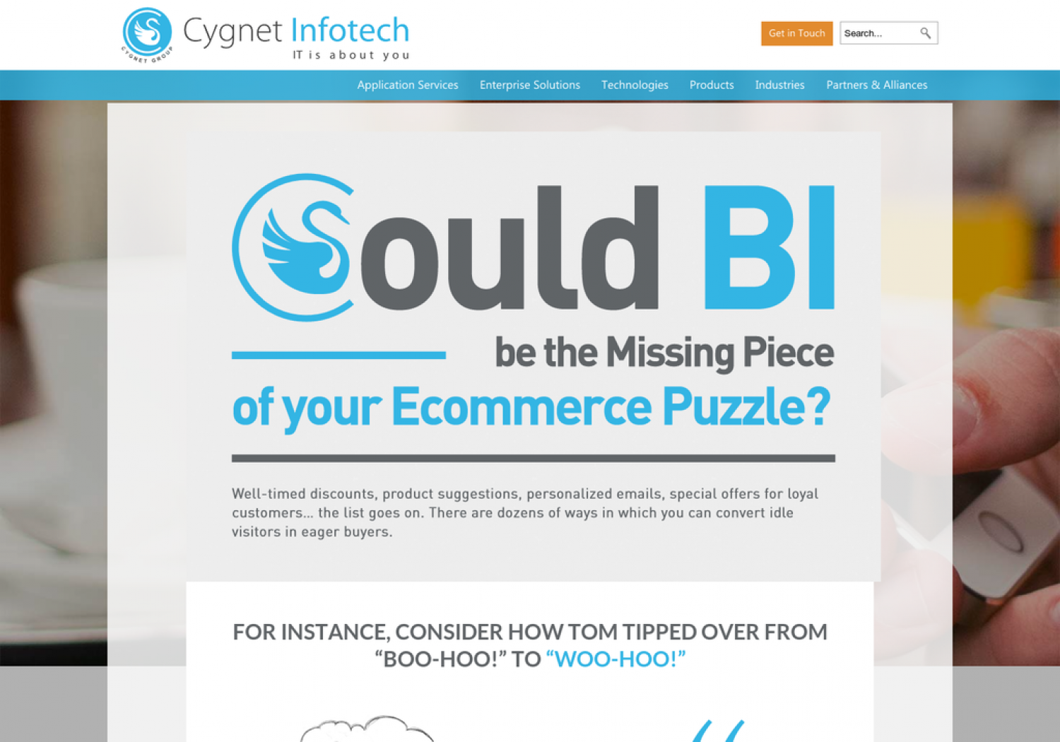 Could BI be the missing piece of your eCommerce puzzle Infographic