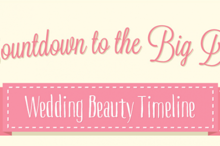 Countdown To The BIG DAY! – Wedding Beauty Timeline Infographic