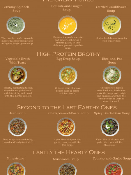 Creamy, Brothy, Earthy and Hearty Soups for the Fall Season Infographic