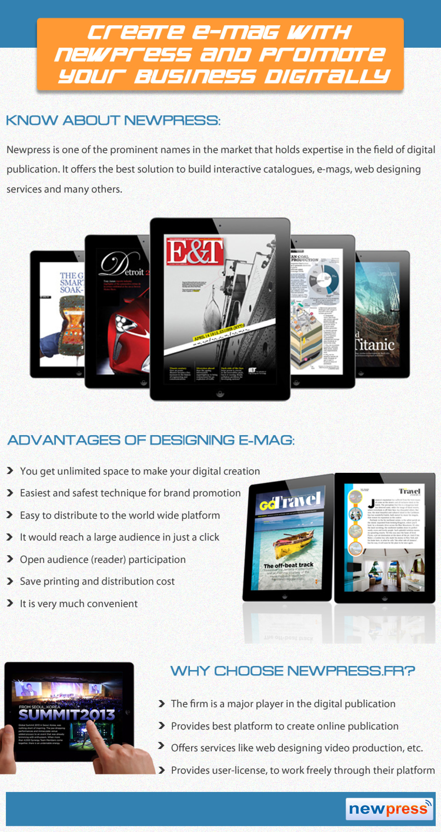 Create E-Mag with Newpress and Promote your Business Digitally Infographic