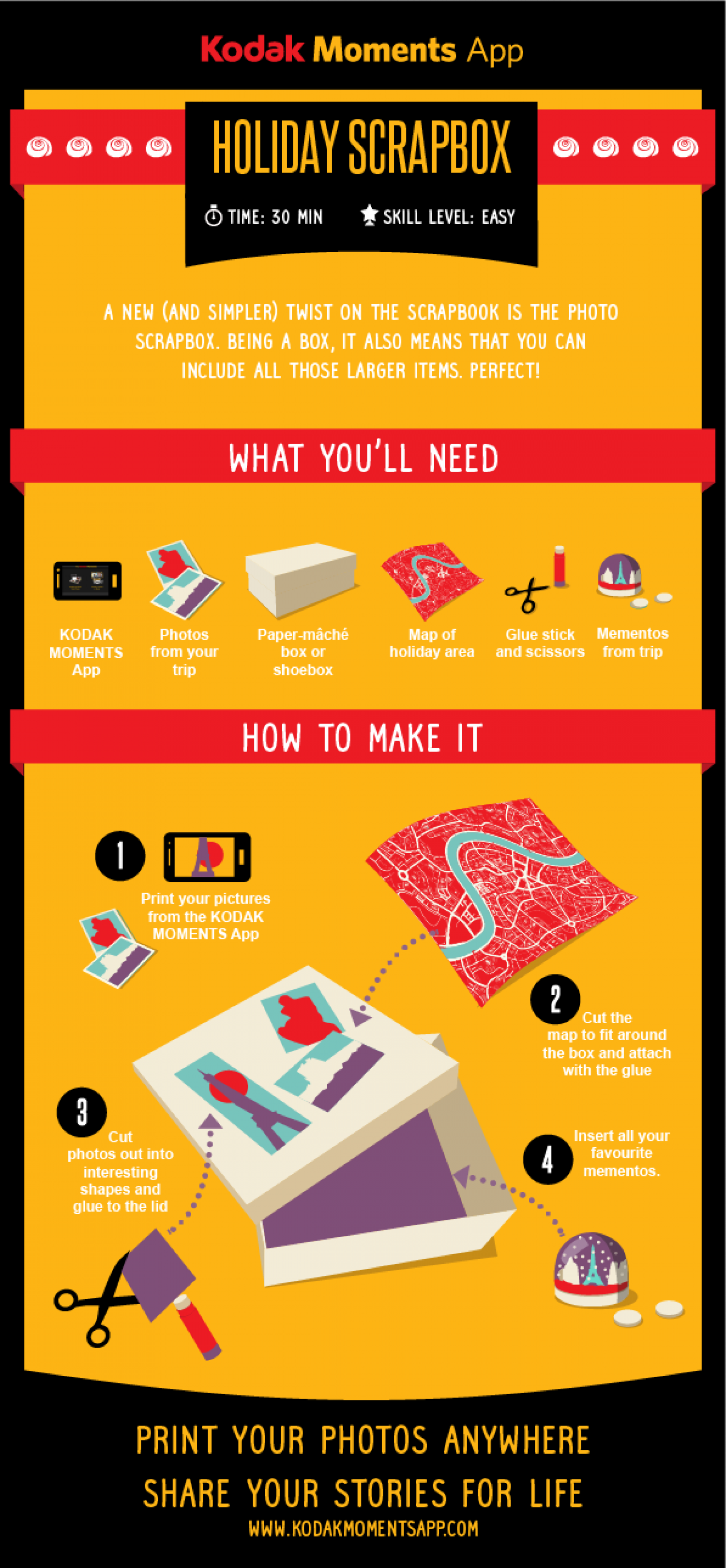Create your very own holiday scrapbox in 4 easy steps Infographic