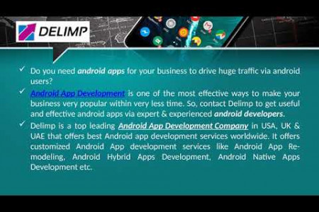 Creative Android App development at Delimp for quick business growth Infographic