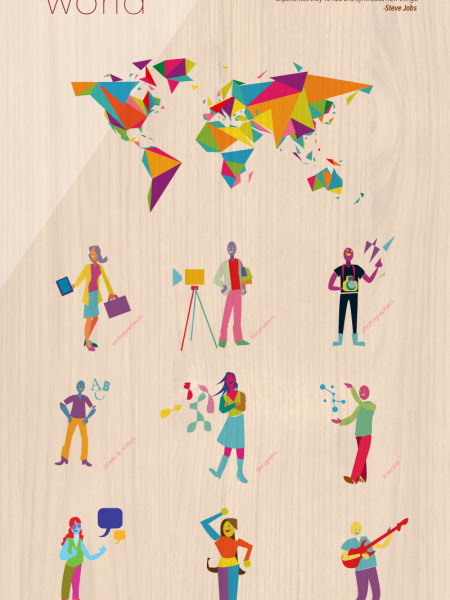 Creative Around The World Infographic