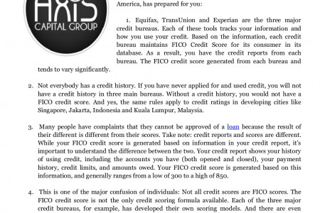 Credit Score Facts You Should Know on Axis Capital Group Business Funding Jakarta Review Infographic