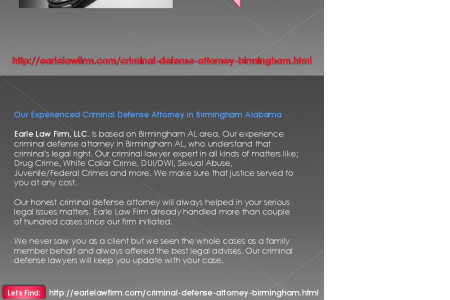 Criminal Defense Attorney Birmingham Alabama | Earle Law Firm, LLC. Infographic