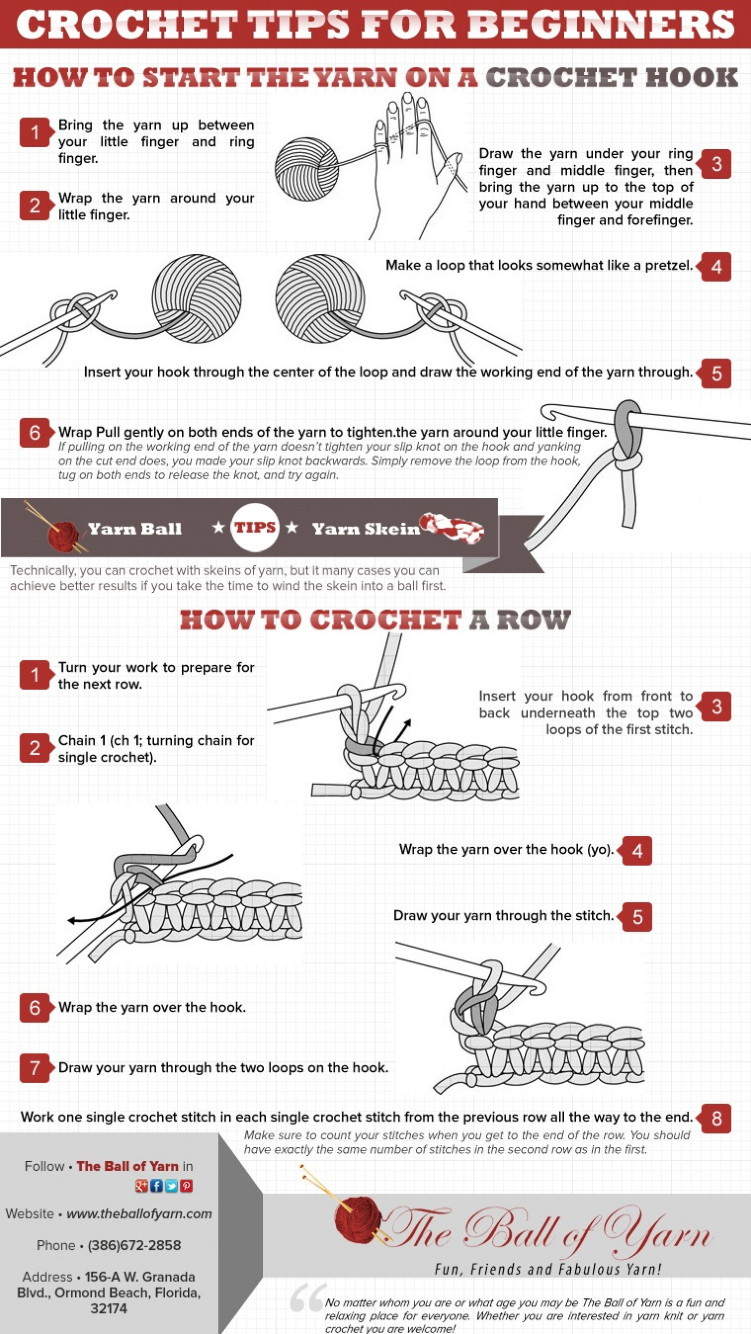 Crochet Tips : Crochet Tips for Beginners Infographic