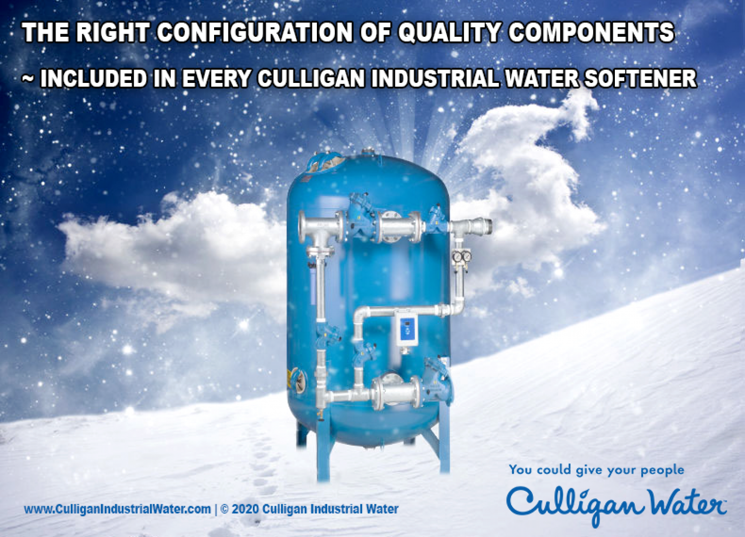 Culligan industrial water softener Infographic