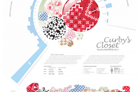 Curby's Closet 2011 Sales Infographic