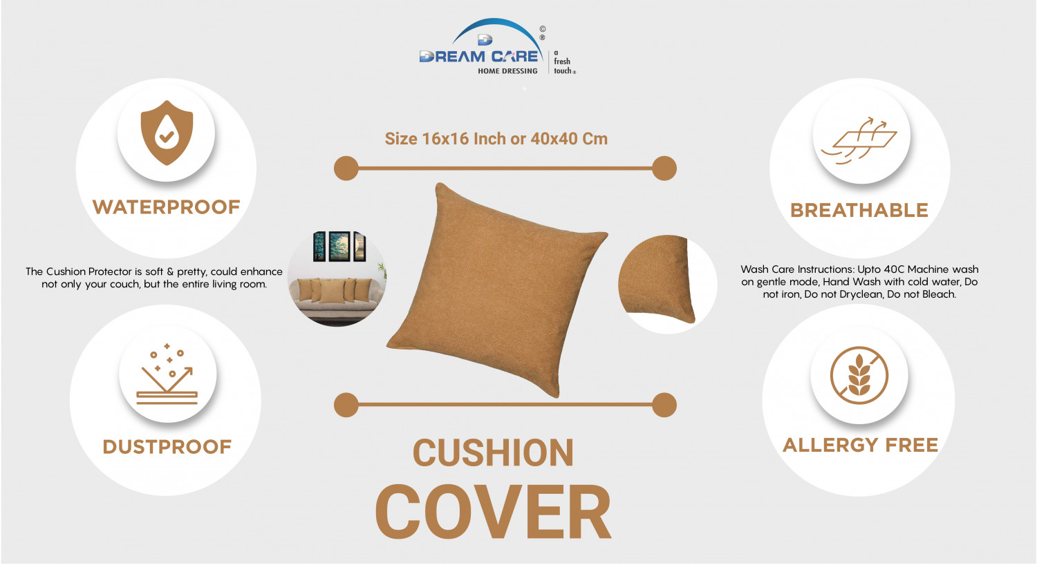 cushion protectors Infographic
