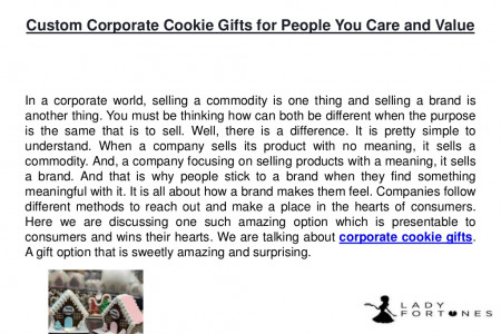 Custom corporate cookie gifts for people you care and value Infographic