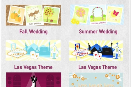 Custom Illustrated Wedding Themes Infographic