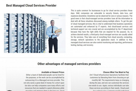 Custom Managed Cloud Services Toronto Canada Infographic