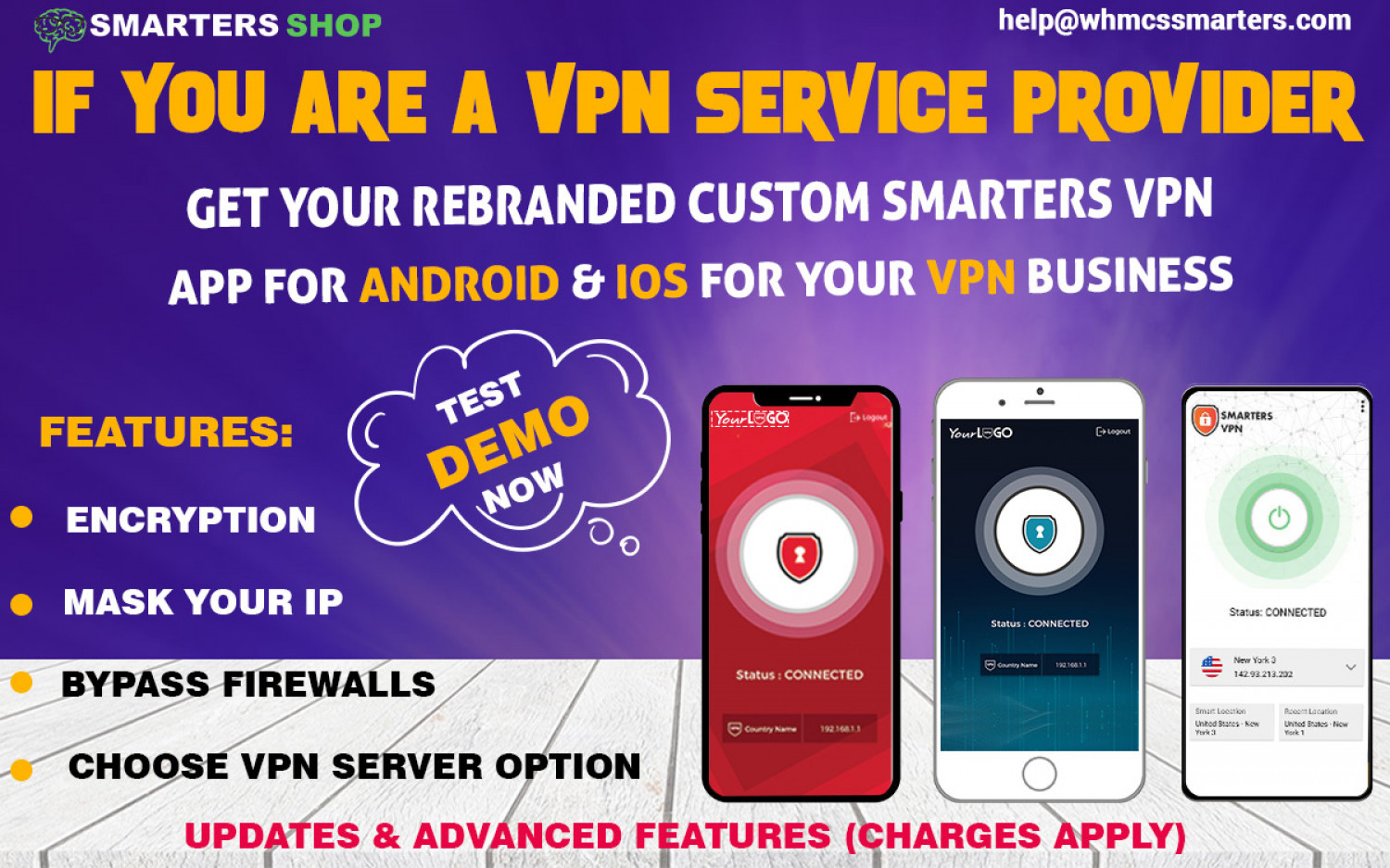 CUSTOM SMARTERS VPN APP FOR ANDROID AND IOS Infographic