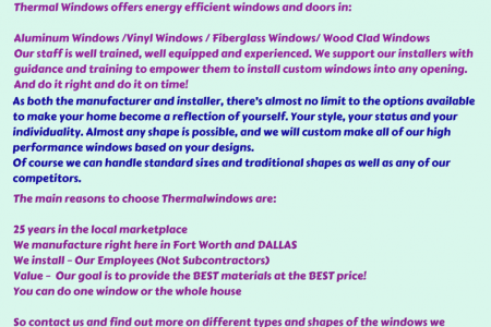 Custom Windows Installer Now in Fort Worth Infographic