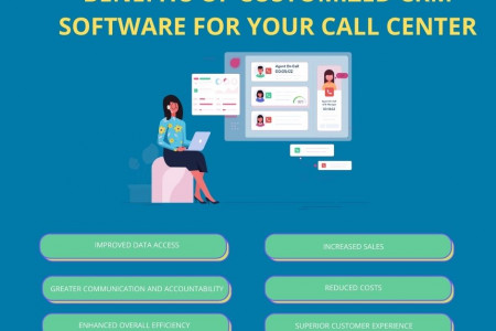 Customized CRM Software Infographic