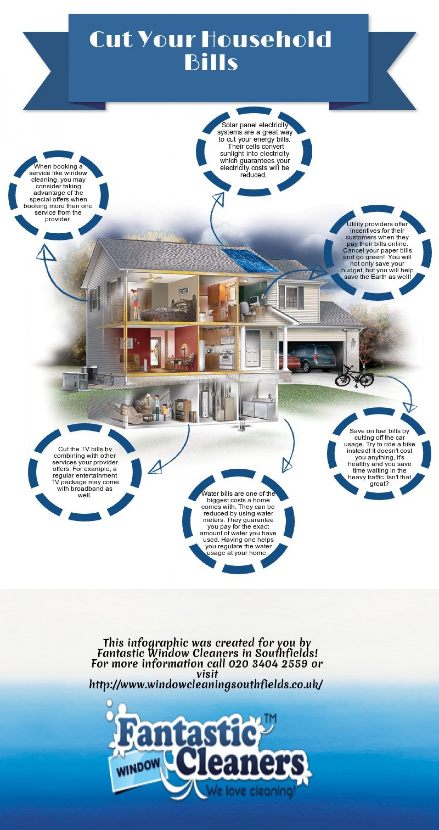 Cut Your Household Bills Infographic