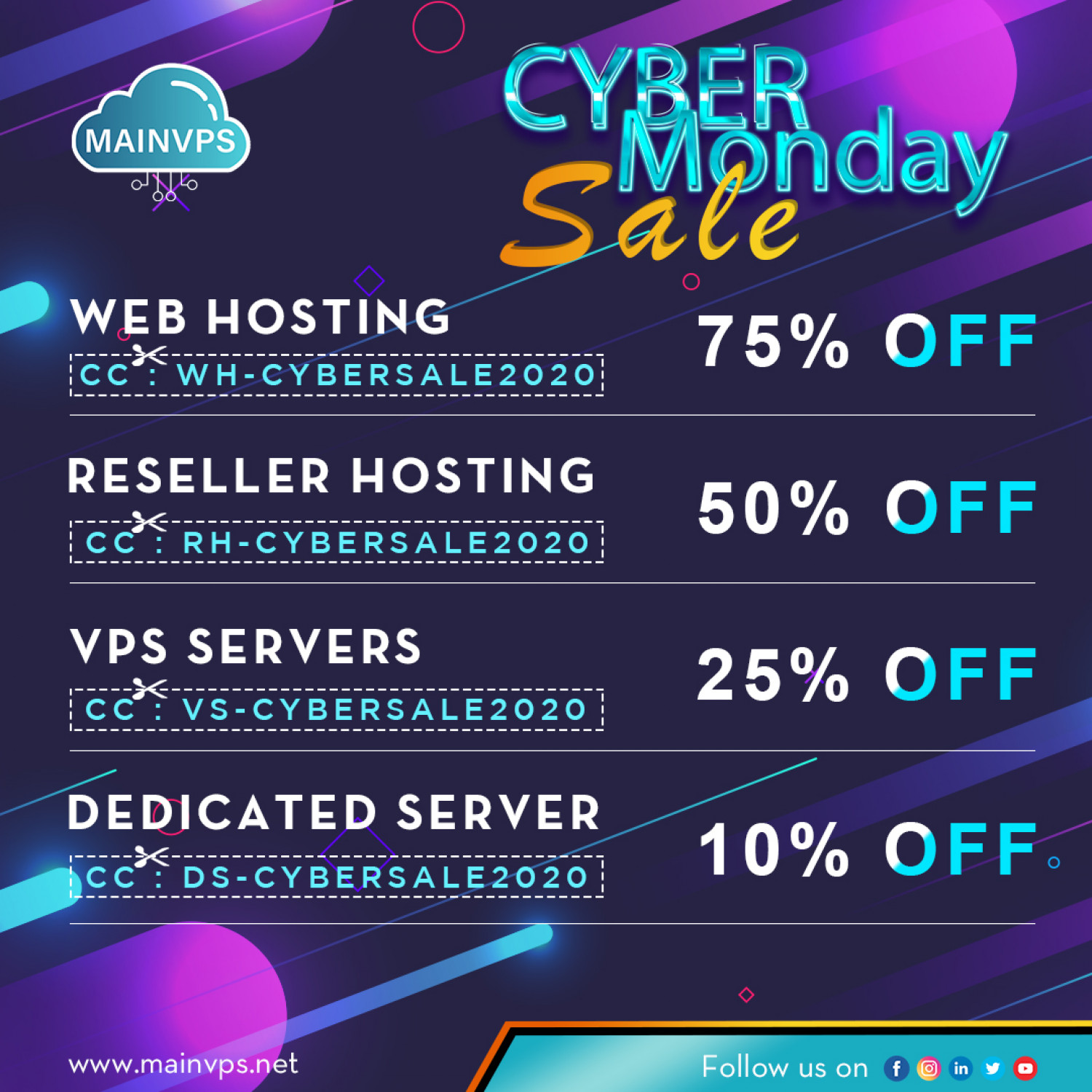 Cyber Monday Offer for Hosting or Server  Infographic