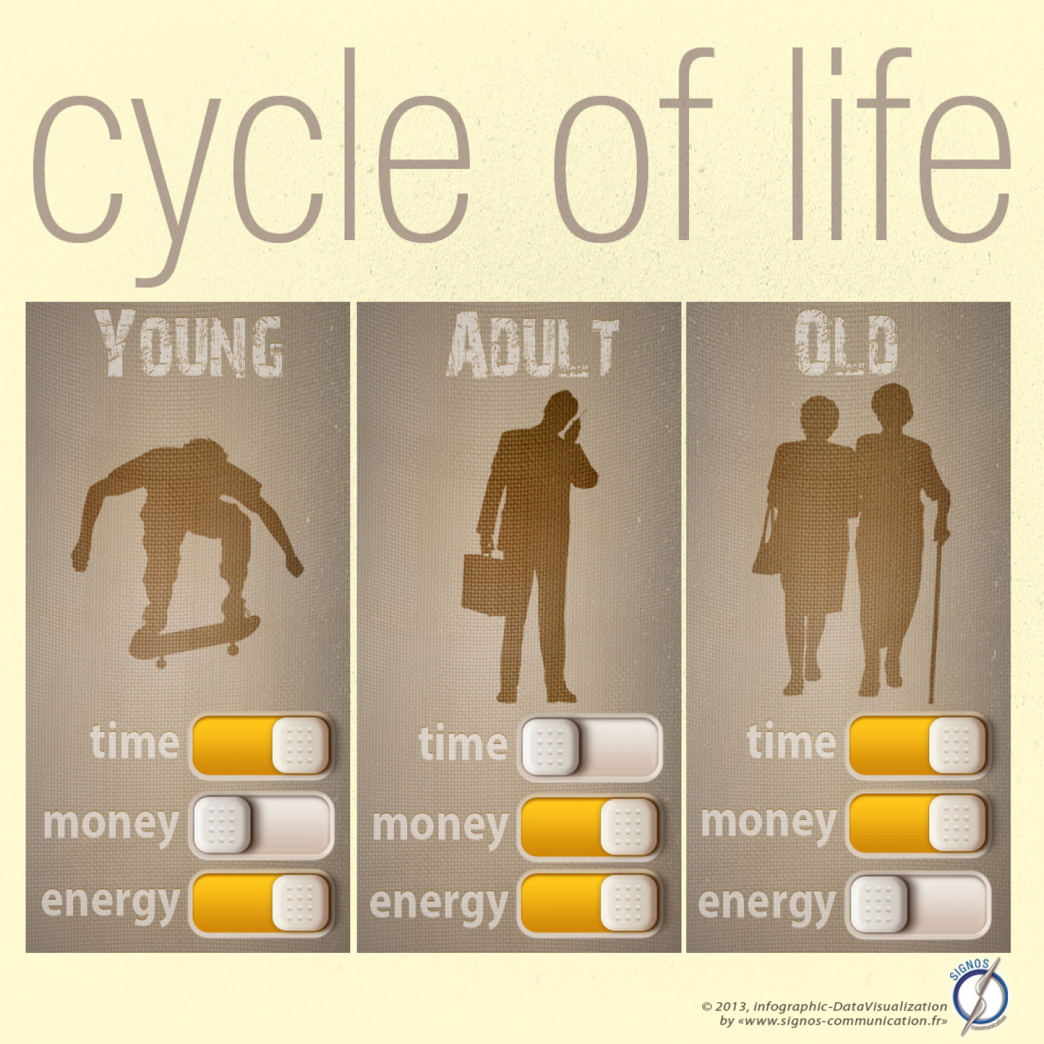 Cycle of life Infographic