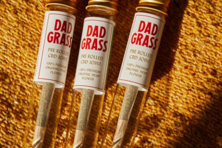 Dad Grass Pre Rolled Hemp CBD Classic Joint - Trio Infographic