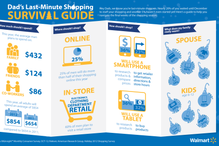 Dad's Last-Minute Shopping Survival Guide Infographic