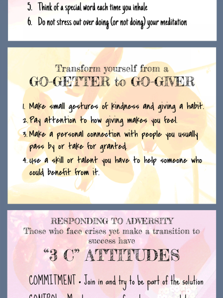 Daily Practices From the Book THRIVE Infographic