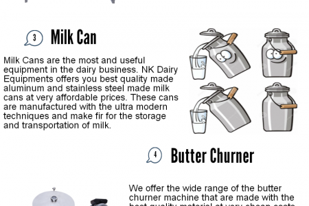 Dairy Equipments Infographic