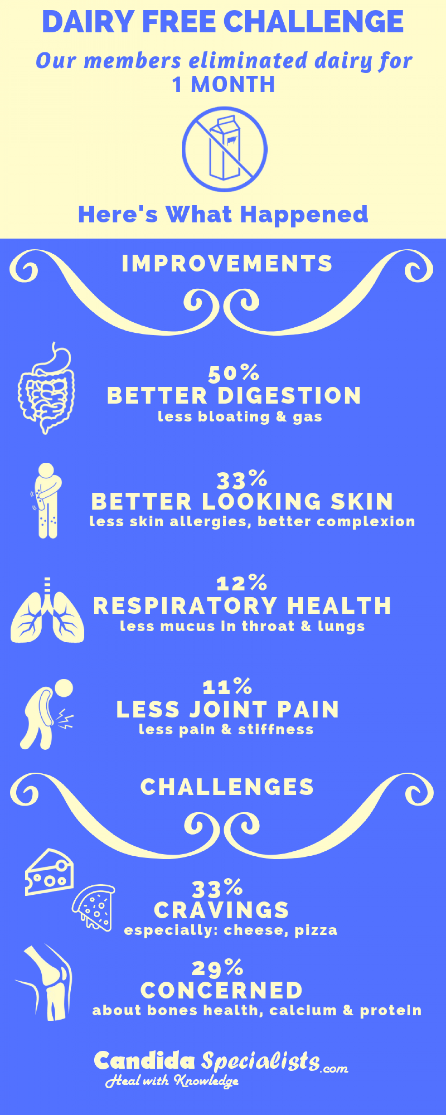 Dairy Free Diet : One Month Results, Benefits & Concerns (Infographic)  Infographic