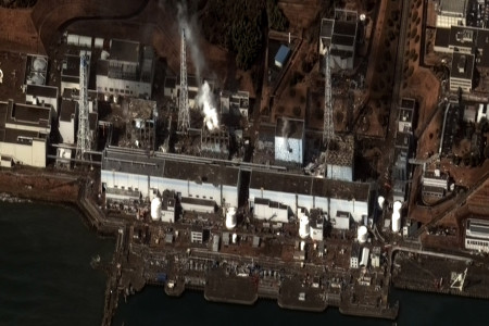 Damage to Nuclear Reactor Buildings - Fukushima Daiichi Power Plant, Japan Infographic