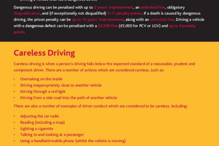 Dangerous, Inconsiderate & Careless Driving - The Differences & The Law Infographic