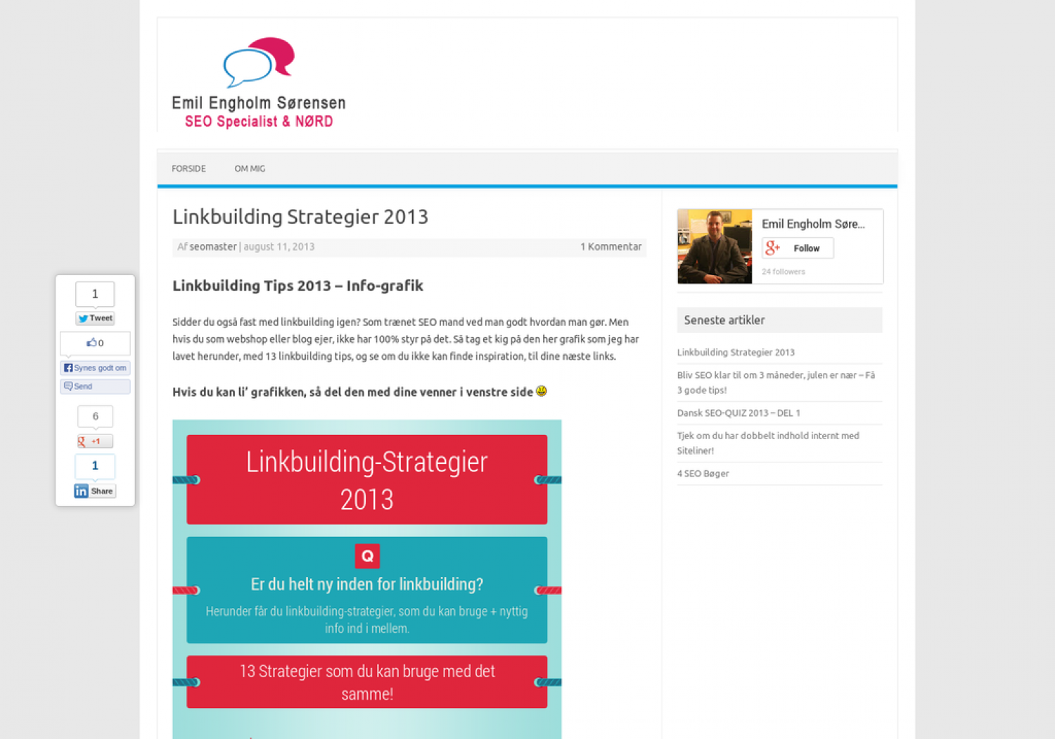 Danish Linkbuilding Strategies 2013 Infographic
