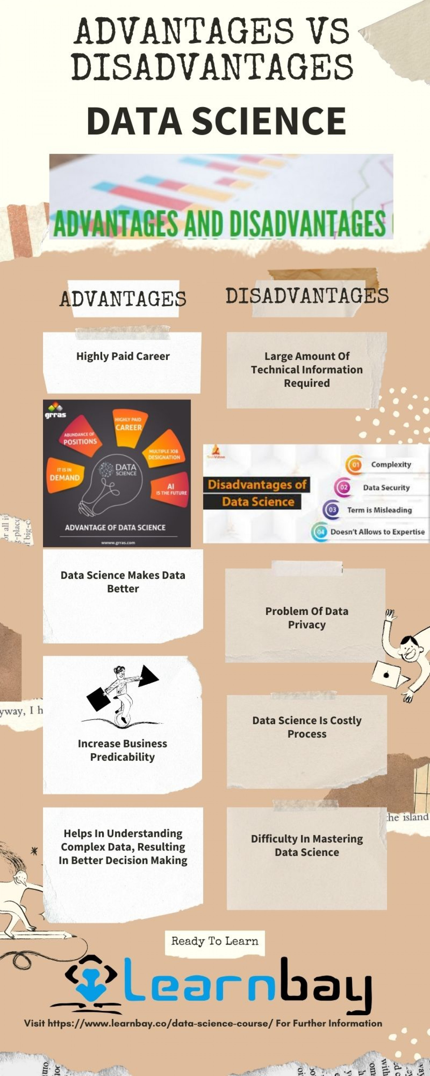 Data Science Advantages and Disadvantages Infographic