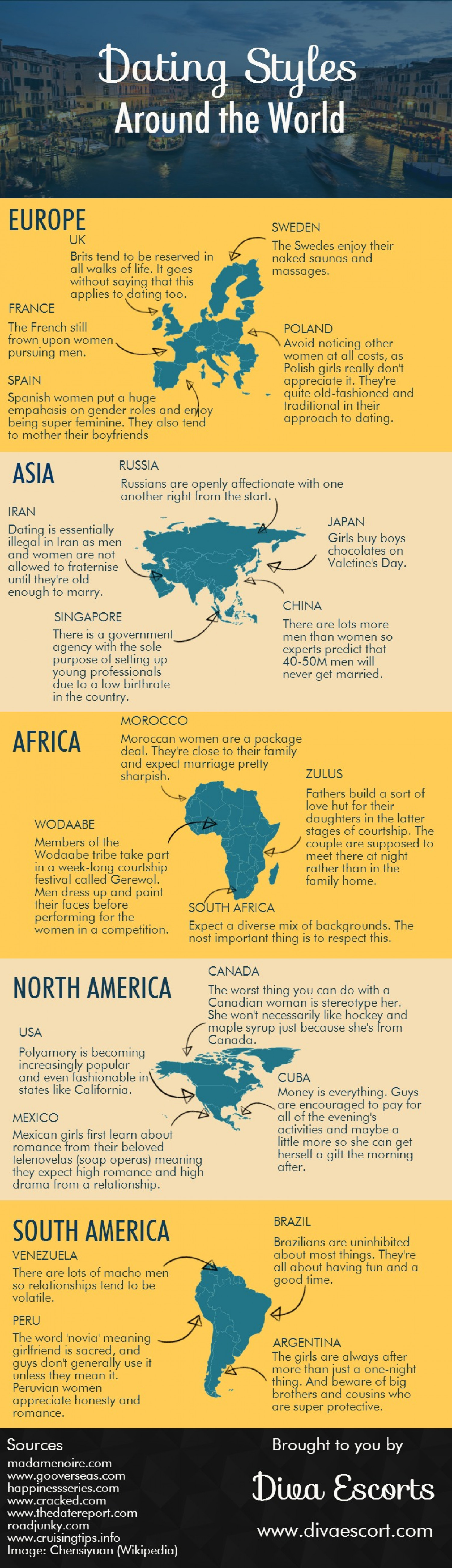 Dating Styles Around the World Infographic