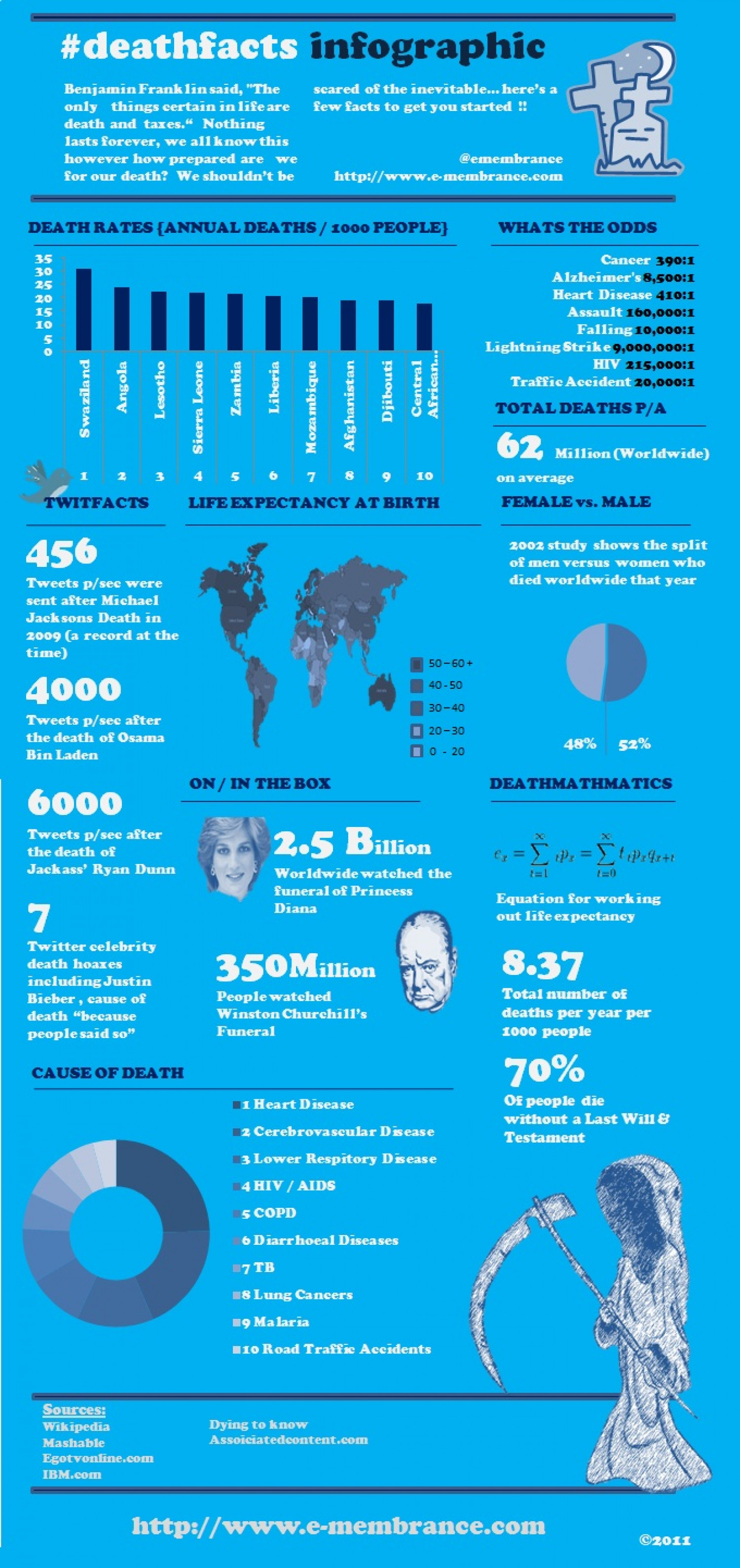 Death Facts Infographic Infographic
