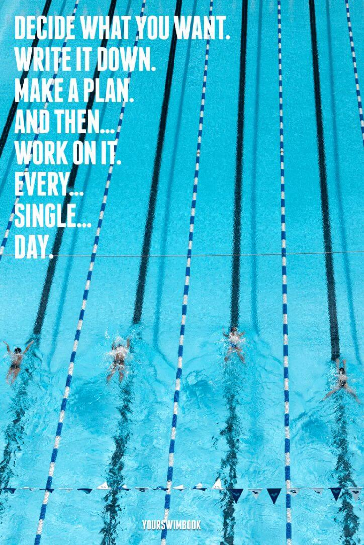 """""""Decide What You Want and Work For It"""" Swimming Poster Infographic"""