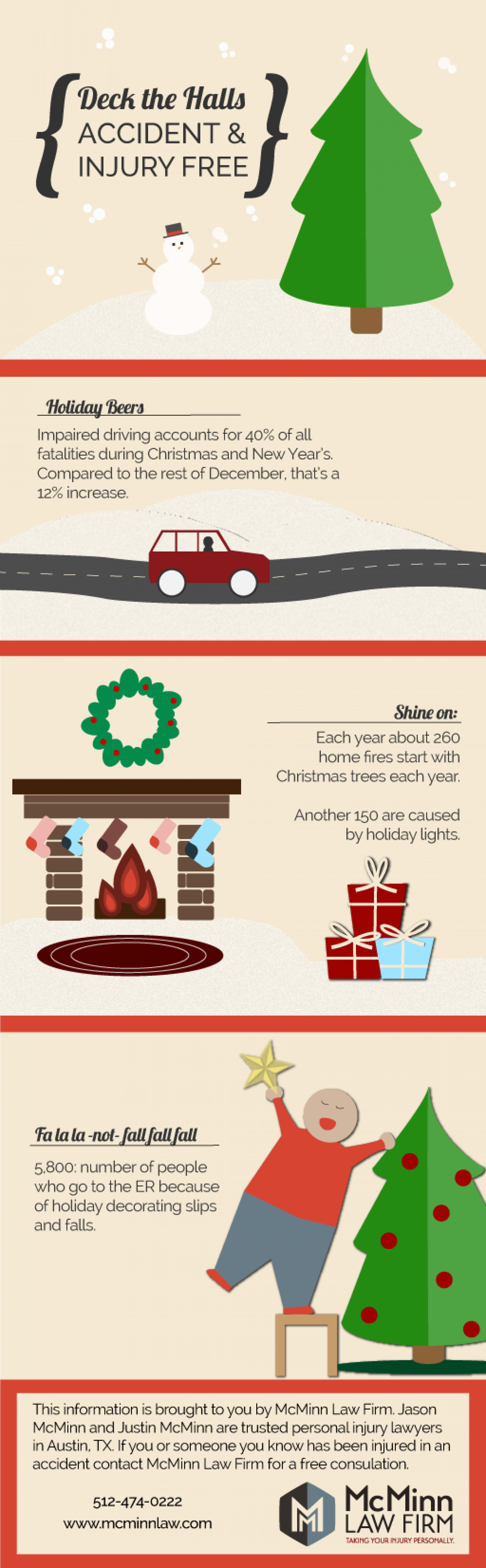 Deck the Halls Injury and Accident Free Infographic