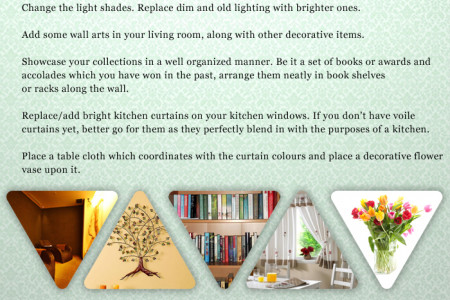 Decorate your home in 10 minutes Infographic