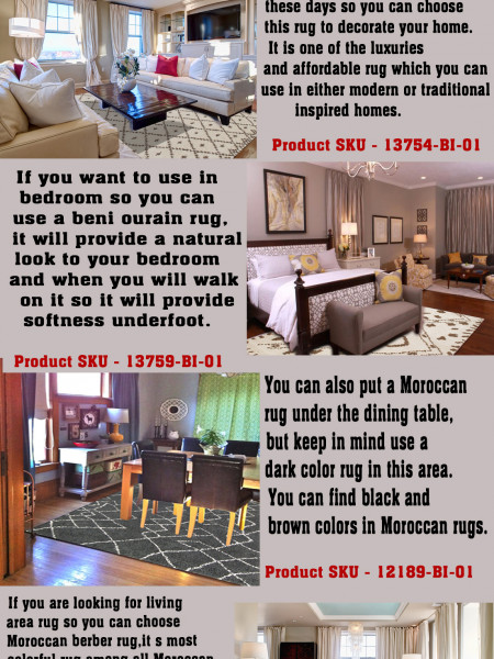Decorate Your Home with Moroccan Rugs Infographic
