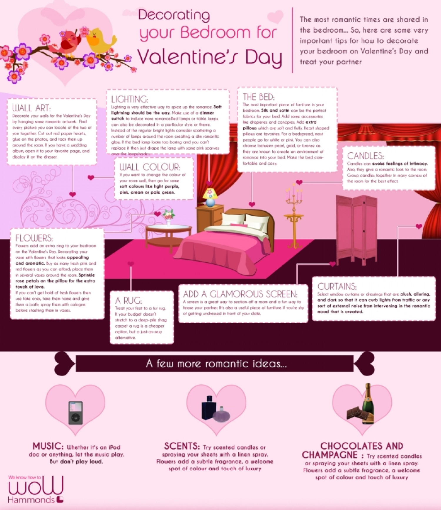 Decorating your Bedroom for Valentine's Day Infographic