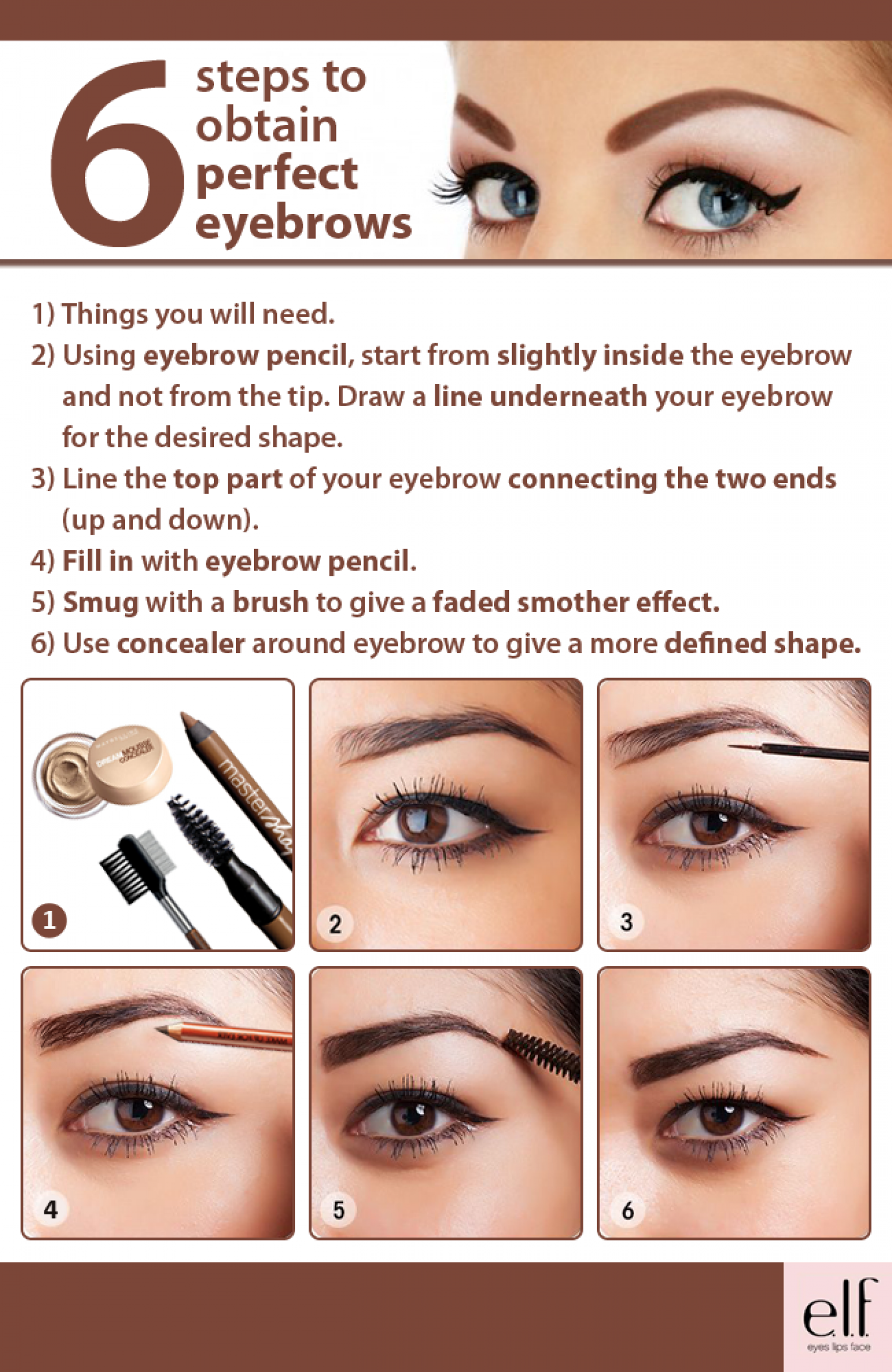 Define your Eyebrows Infographic