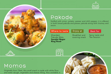 Delhi Street Foods Every Foodie Must Try Infographic
